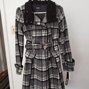 XOXO - Medium Black/White/Grey Peacoat NWT